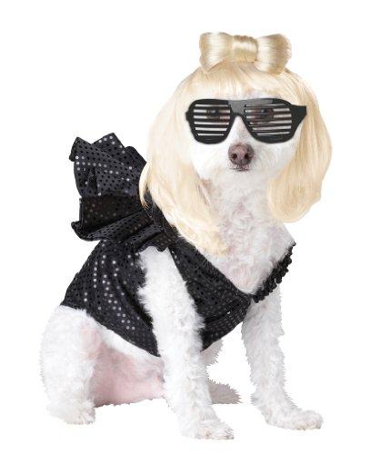 Pup-A-Razzi Pop Sensation Costume pour Chien, Noir