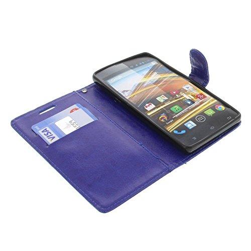 foto-kontor Tasche für Archos 50 Neon 50B Neon Book Style dunkelblau Schutz Hülle Buch