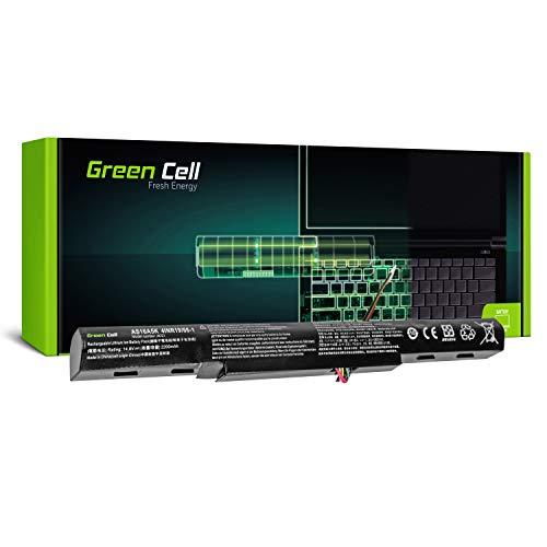Green Cell® AS16A5K Laptop Akku für Acer Aspire E 15 E15 E5-575 E5-575G E 17 E17 E5-774 E5-774G (4 Zellen 2200mAh 14.6V Schwarz)