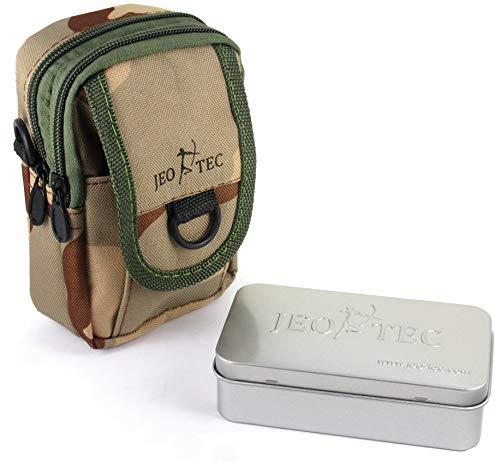 Bolso de Cintura Táctico Militar Multiuso EDC Compacto de Nylon, Bolso Deportivo con Caja Tin, para llevar kit de supervivencia y accesorios de deportes al aire libre: senderismo, escalada, acampada, bushcraft, caza, pesca