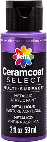Delta Creative Multi-Surface Paint, 2 oz, Purple Metallic