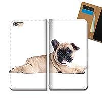 AQUOS sense4 lite SH-RM15 ケース スマホケース 手帳型 ベルトなし 犬 イヌ いぬ フレンチブル 仔犬 手帳ケース カバー バンドなし マグネット式 バンドレス EB329030115503