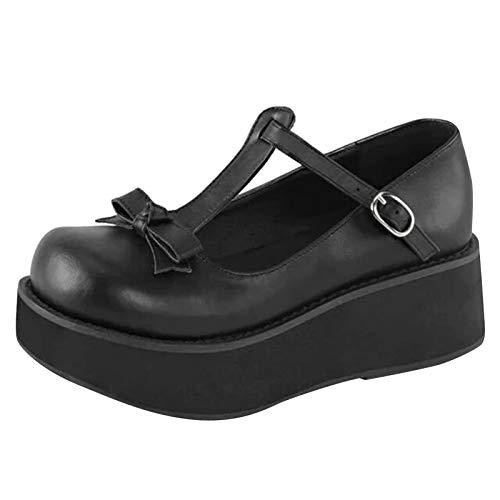 Corlidea Mary Jane Goth Plateau - Zapatos de tacón para mujer, estilo gótico
