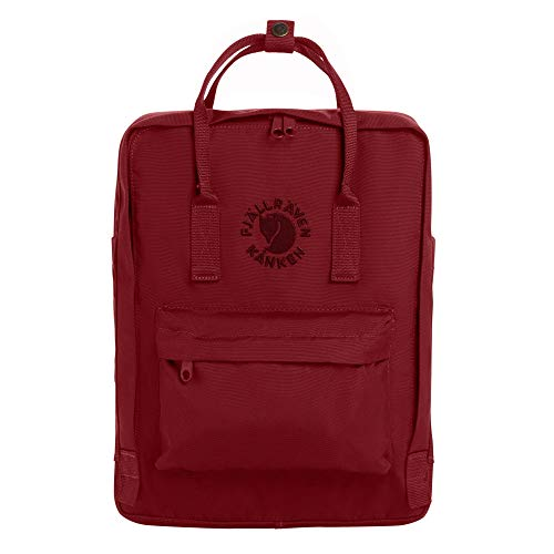 Fjallraven, Re-Kanken Recycled and Recyclable Kanken Backpack for Everyday, Ox Red