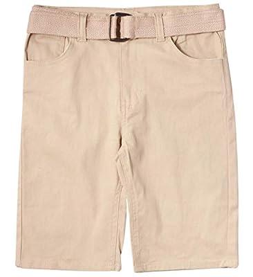 Beverly Hills Polo Club Boys School Uniform Belted Shorts