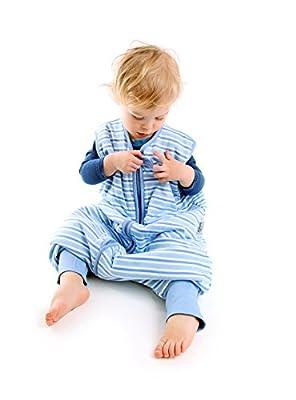 Saco de repetición Baby todo el año Saco de dormir con patas 2.5tog–Blue Stripes–Disponible en 4tallas diferentes