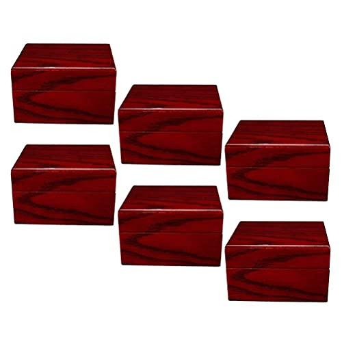 JIANGCJ Pretty - Caja organizadora de almacenamiento de joyas para reloj, 6 unidades