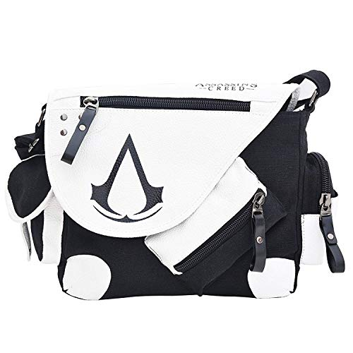 Assassin's Creed Canvas Umhängetasche, Anime Style Cosplay Message Schultertasche