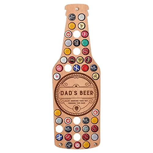 Doherty Mapa de la colección de tapa de cerveza, tapa de botella, mapa, arte para colgar en la pared, regalo del día del padre