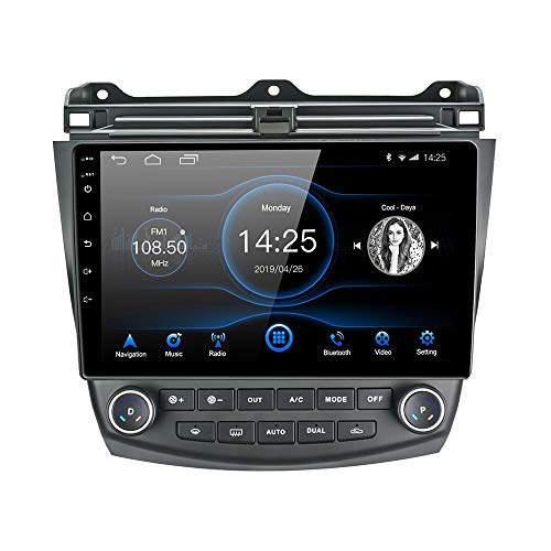 Lexxson Android Honda Accord Car Stereo Android 10.1 Car Radio 10 inch Capacitive Touch Screen High Definition GPS Navigation Bluetooth Head Unit for Honda Accord 7th 2003 2004 2005 2006 2007