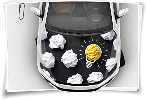 Medianlux Motorkap autosticker lamp licht idee succes papier steenslagbeschermfolie Airbrush Tuning Car-Wrapping luchtkanaalfolie digitale druk folie