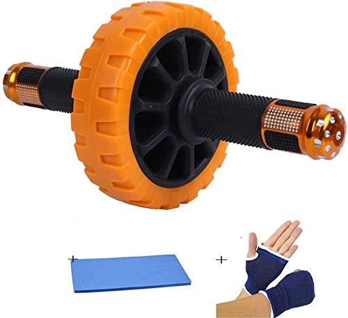 Roue abdominale Ce Ab est livré avec un coussin for les genoux et double roue Rouleaux for la stabilité et le confort ajouté et est l'ABS de roue for un parfait entraînement de base Ab abdominale exer