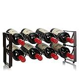 TYXL Estante de Metal para vinos, 8 Botellas, encimera, encimera, gabinete, Soporte para Vino, Almacenamiento, Aspecto Requiere un ensamblaje mínimo.