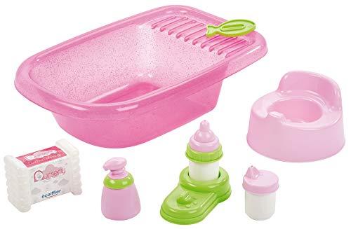 Ecoiffier Spielzeug – 788 – Rosa Badewanne für Puppen – Nachahmung – ab 18 Monate