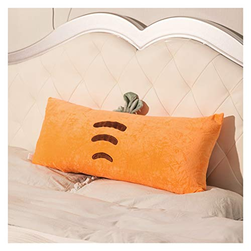 WAJIEFD Reading Pillow Backrest Headboard Cushion Upholstered Bedroom Sofa Double Long Pillows Lumbar Support, Removable And Washable,5 Colors,3 Sizes (Color : Orange, Size : 120CM)