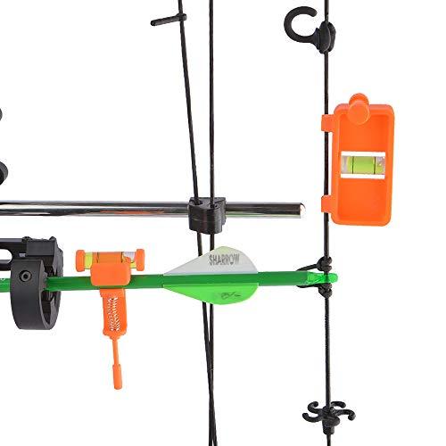 SHARROW Bow Tuning Mounting String Level Combo - Afinación de Arco Compuesto de Tiro con Arco Cuerda de Montaje Combo de Nivel (Naranja)