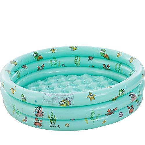 Piscina inflable redonda para bebés, inflable portátil para niños/niños, piscina, playa, océano, 3 anillos de verano, piscina para Kidsmdash; 150 veces; 40 cm verde1 (color: verde)