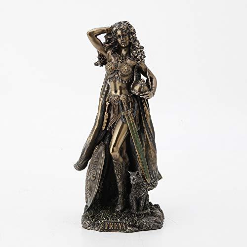 Veronese Design Norse Goddess Freya Antique Bronze Finish Statue