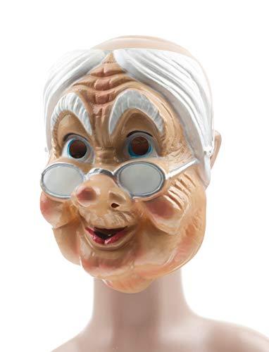 Gesichtsmaske alte Frau Maske Oma Karneval Fasching Halloween
