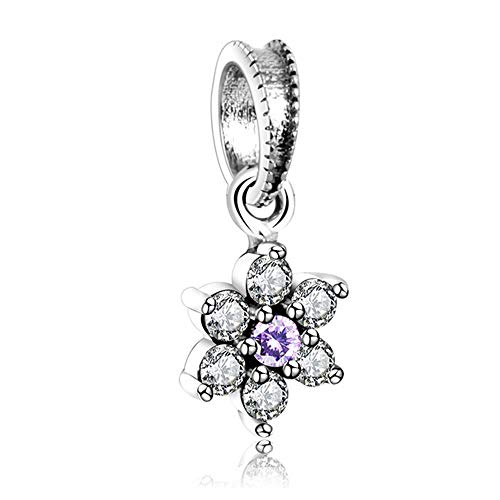 Pandora Jewelry Bracelet 925 Natural Sterling Silver Forget Me Not Pendant Charm Fit Original Europe Charms Fashion Factory Price Diy Gifts For Women