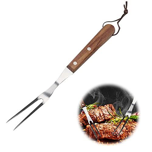 Tenedor de carne Barbacoa Tenedor Tenedor de Acero Inoxidable Tenedor De Trinchar Tenedor de Carne Cocina para uso en Cocinas Domésticas o Parrillas y Cubiertos de Restaurantes 1 Pieza