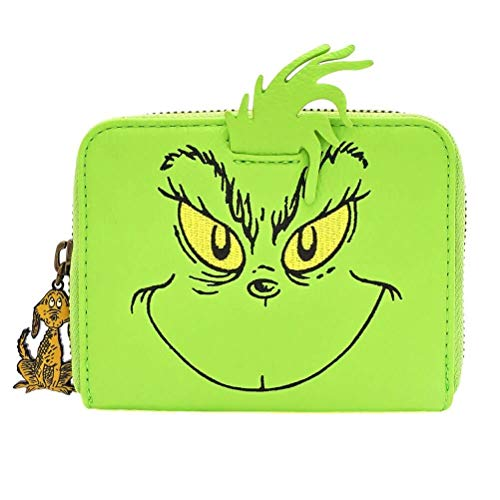 Monedero con Cremallera Cosplay Loungefly x Dr. Seuss The Grinch