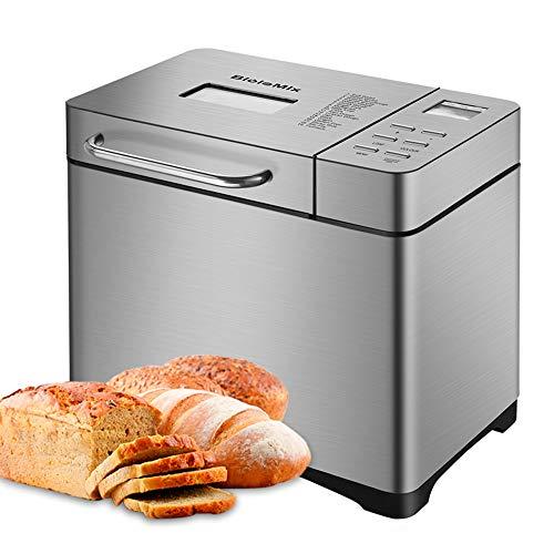 TTLIFE 650w Automatische Brotbackmaschine aus Edelstahl Brotbackmaschine Mit 19 Backprogrammen Für 500/750 / 1000g Brotgewicht Mit automatischem Fruchtnussspender