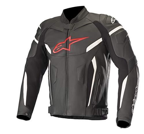 Alpinestars Chaqueta De Piel Moto Gp Plus R V2 Negro-Rojo-Fluorescent (Xxl, Negro)