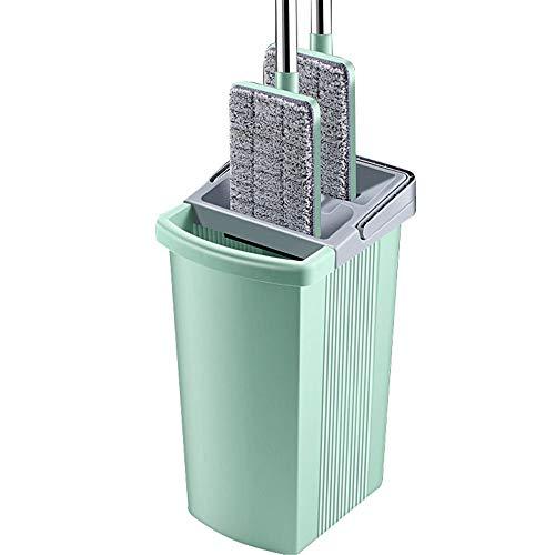 HXiaDyG Flat Mop Bucket Set huisvrouw fitnessruimte draagbare schoonmaakemmer mop free hand wassen vlakke kop lange greep mop vloerwisser en emerset