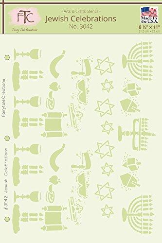 Fairytale Creations Jewish Celebrations Stencil, 8-1/2' L x 11' H