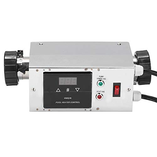 Watertemperatuurregelcircuit, waterdichte intelligente digitale boiler thermostaat van roestvrij staal 3 kW voor badkuip, zwembad, badkuur. 220V