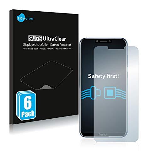 Savvies 6X Schutzfolie kompatibel mit Honor Play Bildschirmschutz-Folie Ultra-transparent