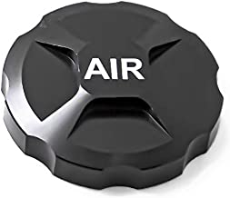 CNC Aluminum Alloy Cycling Mountain Bike Air Gas Fork Value Cover MTB Front Fork Cap Protector Replacement Part Accessory (Black)