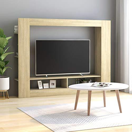 Goliraya Tidyard Mobile TV Moderno da Parete Rovere Sonoma in Truciolato,Mobile TV a Muro Moderno,Mobie TV Design Moderno 152x22x113 cm