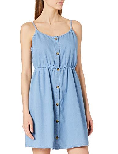 Vero Moda VMFLICKA Strap Short Dress GA Noos Vestido, Azul Claro, M para Mujer