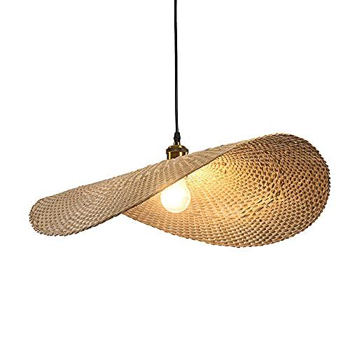 Lámpara Colgante De Bambú Natural para Isla De Cocina, Lámpara Colgante Tejida A Mano, Luces Colgantes Japonesas, Enchufe E27, Tienda De Libros, Cafetería