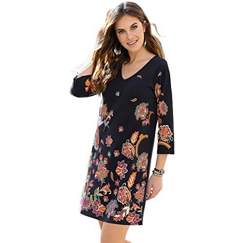 VENCA Vestido Felpa Estampado Oriental Frontal Mujer by Vencastyle - 030235