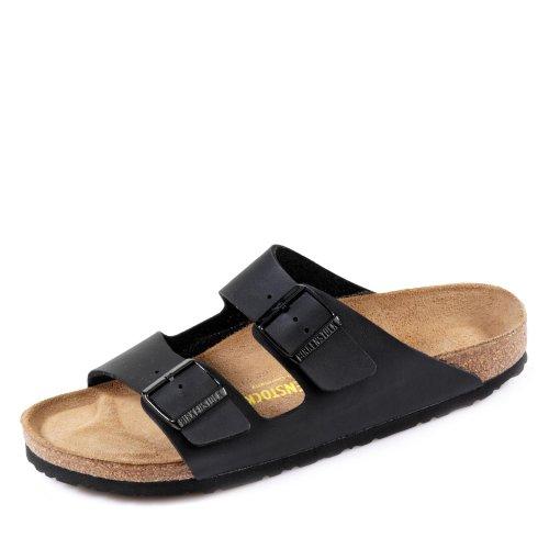 Birkenstock Arizona - Oiled Leather (Unisex) Black Oiled Leather 37 (US Women's 6-6.5) Narrow