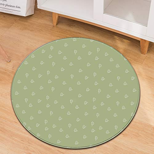 Simple Round Carpet Household Rocking Chair Mats Office Chair Blankets Washable