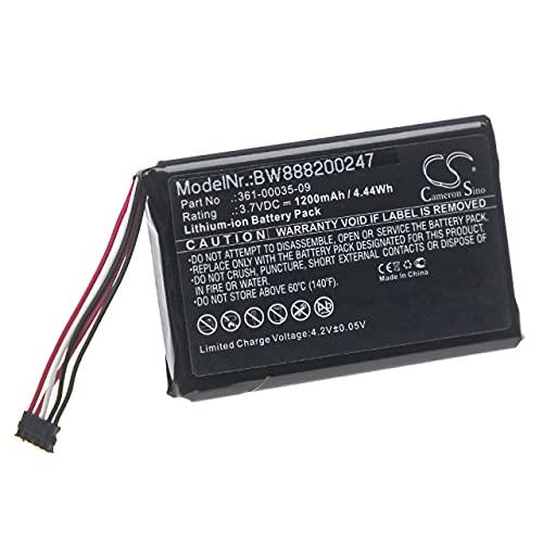 vhbw Batería Recargable Compatible con Garmin T 5 Mini, TT 15 Mini Collar para Perros, adiestrador (1200 mAh, 3,7 V, Li-Ion)