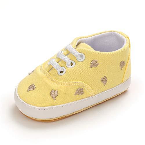 MASOCIO Zapatillas Bebe Niña Niño Zapatos Primeros Pasos Bebé Deportivas Talla 20 Amarillo 12-18 Meses