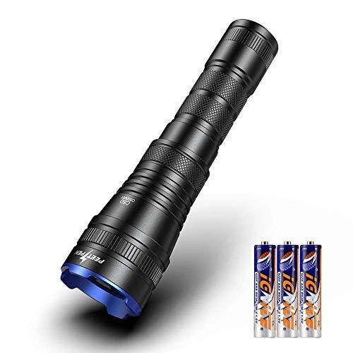 Led Taschenlampe LED Zoombar Taschenlampen 1000 Lumen Super Extrem Hell 4 Licht Modi Wasserdicht mit AAA Batterien,kann 18650 Batterie verwenden, Outdoor Handlampe ,für Haushalt, Camping , Wandern