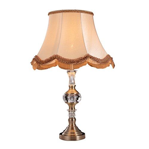 Lampe de table européenne Lampe de chambre à coucher Lampe de cristal E27 Lumière Lit Creative Bed Decor Lamp (sans source de lumière)