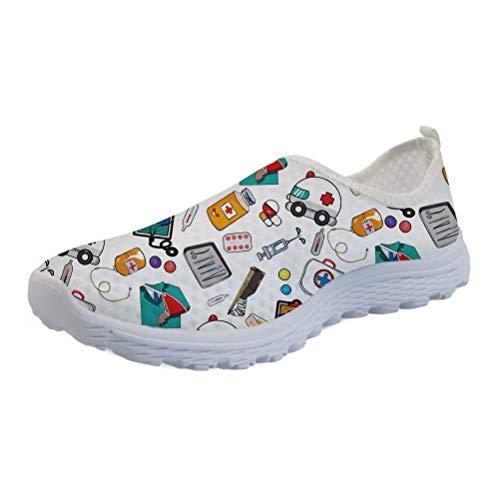 KUIFORTI Zapatos ligeros transpirables blancos productos médicos imprimir secado rápido gimnasio correr...