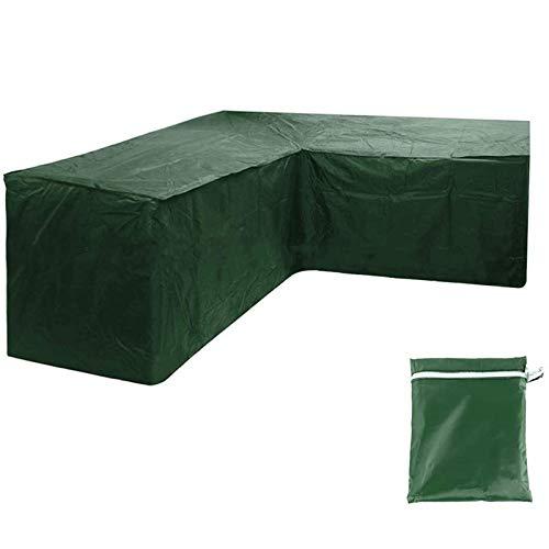 QAZWSX - Funda para muebles de jardín en forma de L, funda para sofá de esquina de patio, impermeable, resistente al polvo, cubierta para sofá de esquina de ratán