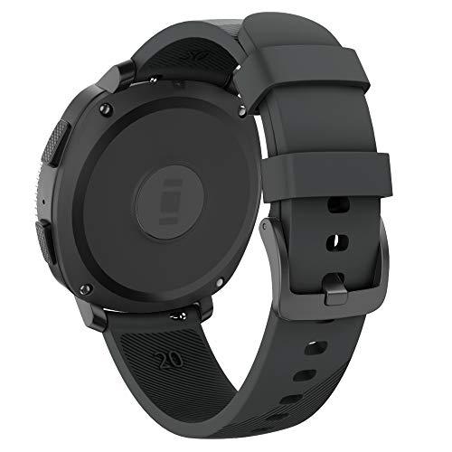Isabake Correa para Samsung Galaxy Watch Active/Active 2 40&44mm/Galaxy Watch 42mm/Gear Sport/Gear S2 Classic, Banda de Repuesto de Silicona Suave de 20mm para Accesorios de Reloj (Negro)