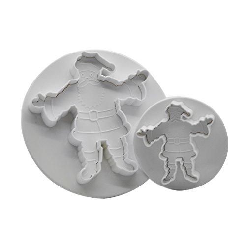 DeColorDulce Papa Noel Set emporte-pièces avec éjecteur, Blanc, 28 x 12 x 4 cm, Lot de 2