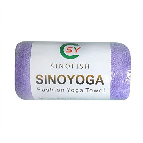 Cino, telo/asciugamano/coperta antiscivolo per Yoga, Sport, Fitness, da viaggio, allenamento, violett