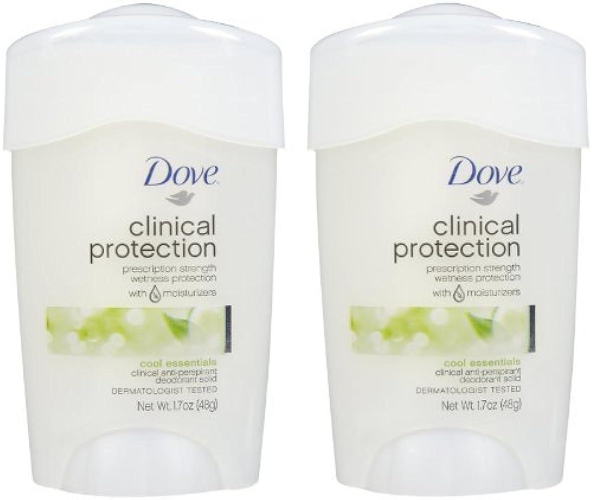 メイド音声学コンドームDove Clinical Protection Antiperspirant & Deodorant, Cool Essentials - 1.7 oz - 2 pk by Unilever [並行輸入品]