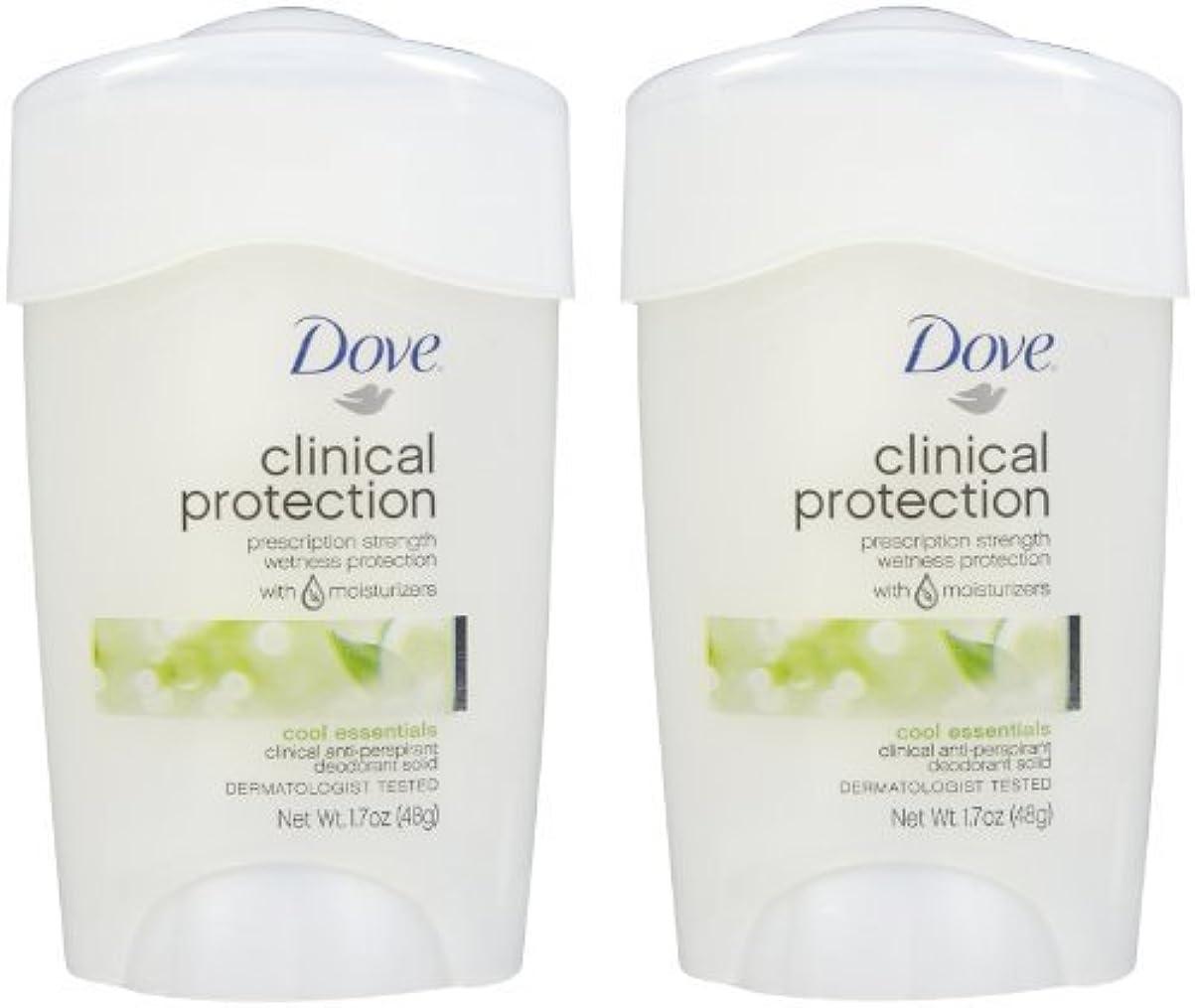 賄賂喉が渇いたあなたはDove Clinical Protection Antiperspirant & Deodorant, Cool Essentials - 1.7 oz - 2 pk by Unilever [並行輸入品]